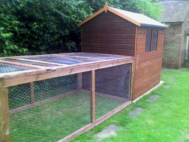 Rabbit shed and run