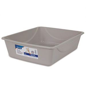 Petmate Litter Pan, Blue Mesa/ Mouse Grey, Large