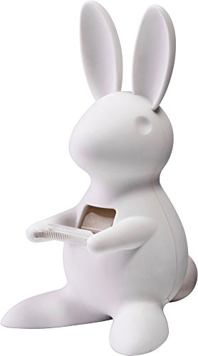 Cute Bunny Desk Tape Dispenser for Home & Office, White