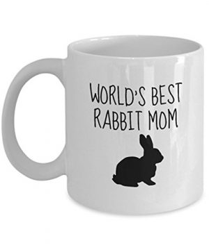 Cute 11 oz Ceramic World's Best Rabbit Mom Mug