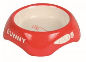 Trixie Ceramic Bowl for Rabbits Bunny Carrot Design