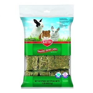 Kaytee Natural Timothy Blend Cubes for Rabbits & Small Animals, 1 Pound