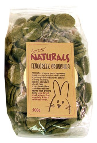 Boredom Breaker Naturals Fenugreek Crunchies For Rabbits, Guinea Pigs And Small Animals (200G)