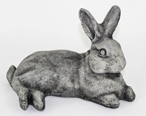 Laying Rabbit Concrete Statue Garden Outdoor Yard Cement Bunny Stone Statues art