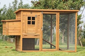 Exacme 6010-0709 Lovupet Deluxe Wooden Chicken Coop Backyard Nest Box Pet Cage, 72""
