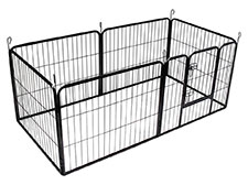 BUNNY BUSINESS Heavy Duty 6 Panel Puppy Play Pen/ Rabbit Enclosure