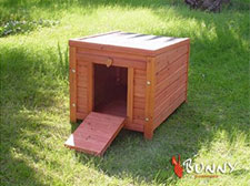 Bunny Business Wooden House Hide