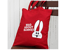 Mad about bunnies tote bag - Red