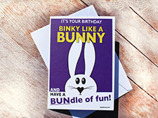 Binky like a bunny! Birthday card