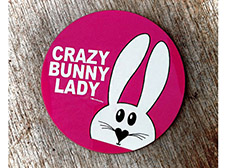 Crazy bunny lady coaster - Pink