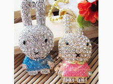 Cute Bunny Rabbit Jewellery USB Flash Pen Drive Disk Memory with Simulated DIAMOND Crystals