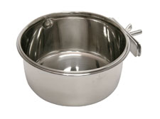Kerbl Stainless Steel Cup with Holder for Rabbits