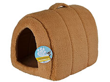 Me & My Pets Brown Fleece Igloo Pet Bed