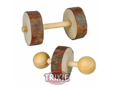 Wooden Dumbell Chew Toys