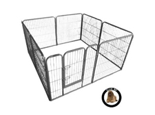Ellie-Bo Heavy Duty Modular 8 Piece Puppy Exercise Play Pen 26 square feet