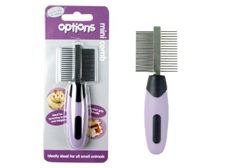 Rosewood Options Mini Double-Sided Comb