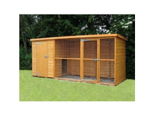 UK Kennels Sussex Dog Kennel And Run(10ft x 4ft)