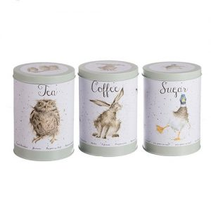 Wrendale Tea, Coffee and Sugar Canisters