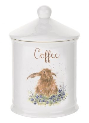 Wrendale by Royal Worcester Coffee Canister Hare