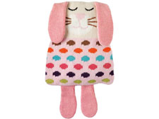 Aroma Home Animal Hotties Microwavable Knitted Rabbit Body Warmer